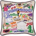 Giant Handmade Richmond Virginia Embroidered Pillow