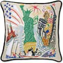Giant Handmade Statue Of Liberty Embroidered Pillow