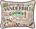Giant Handmade Vanderbilt University Embroidered Collegiate Pillow