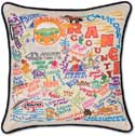 Giant Orange County Embroidered Geography Pillow