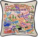 Giant Sonoma County California Embroidered Pillow