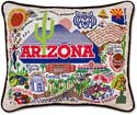 Giant University Ofarizona Handmade Embroidered Pillow