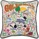 Golden Gate Park Bridge Embroidered Pillow