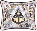 Handmade Boilermakers Purdue University Embroidered Pillow