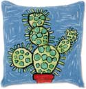 Handmade Cactus Hooked Throwpillow