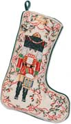 Handmade Christmas Nutcracker Needlepoint Stocking