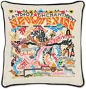 Handmade Embroidered Geography New Mexico Pillow