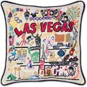 "Handmade Embroidered Las Vegas Pillow<br><font color=""red""><font size=""2""><b>One Available</b></font></font>"