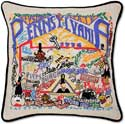 Handmade Embroidered Pennsylvania Pillow