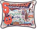 Handmade Embroidered Syracuse Orange Pillow
