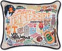 Handmade Embroidered University Of tennessee Volunteers Pillow