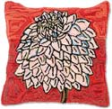 Handmade Folk Art Flower Pillow
