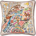 Handmade Grand Canyon Embroidered Pillow