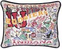 Handmade Indiana University Hoosiers Embroidered Pillow