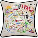 Handmade Italy Italian Embroidered Pillow