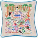 Handmade Jacksonville Florida Geography Pillow