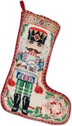 Handmade Needlepoint Nutcracker Christmas Stocking