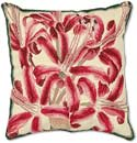 Handmade Needlepoint Pink Flowers Pillow