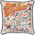 Handmade New England Geography Pillow