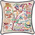 Handmade New Hampshire Geography Pillow
