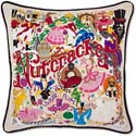 Handmade Nutcracker Embroidered Throw Pillow