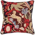 Handmade Oriental Jaguar Jungle Pillow
