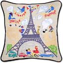 Handmade Paris France Eiffel Tower Pillow