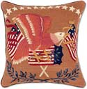 Handmade Patriotic American Eagle Throw Pillow