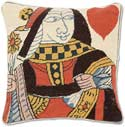 Handmade Queen Of Hearts Card Pillow
