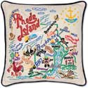 Handmade Rhode Island Embroidered Pillow