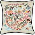 Handmade San Francisco City Geography Pillow