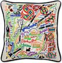 Handmade Scotland Embroidered Scottish Pillow