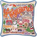 Handmade St Augustine Florida Embroidered Pillow