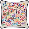 Handmade Texas Embroidered Geography Pillow