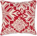 Handmade Traditional Snowflakes Red Christmas Pillow
