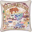 Handmade Yellowstone Park Geography Pillow