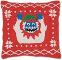 Handmade Yeti Abominable Snowman Christmas Pillow