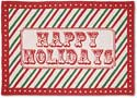"Happy Holidays Handmade Hooked Christmas Rug<br><font color=""red""><font size=""2""><b>Last One!</b></font></font>"