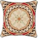 Italian Floral Needlepoint Throw Pillow