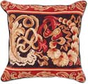 Italian Flowers Floral Needlepoint Pillow