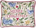 Embroidered Merry Christmas Love Pillow