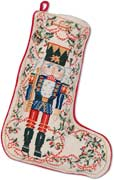 Nutcracker Decorative Needlepoint Christmas Stocking