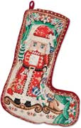 Nutcracker Needlepoint Christmas Decorative Stocking