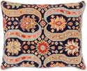 Persian Design II Floral Needlepoint Pillow