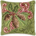 Pine Cone Christmas Pillow