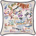 Ski Lake Tahoe Handmade Pillow