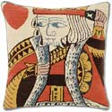 Suicide King Needlepoint Poker Pillow