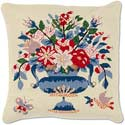 Traditional Colonial Flower Urn Pillow