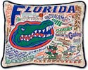 University Of Florida Gators Embroidered Pillow