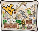 West Virginia University Embroidered Toss Pillow